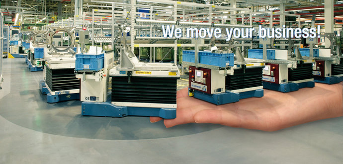 Automated Guided Vehicles are getting a support from a human hand.